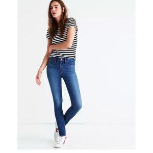 "Madewell 9"" High Riser Skinny Patty Wash Jeans"